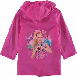 JoJo Siwa Girl Pink Rain Coat Waterproof Youth Toddler Dance