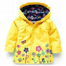 Girls Jackets Children Outerwear Hooded Coats Windbreaker Wa
