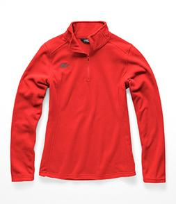 The North Face Women Glacier 1 & 4 Zip - Juicy Red - S