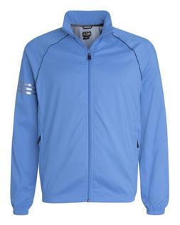 adidas Golf Mens ClimaProof 3-Stripes Full-Zip Jacket - TRUE