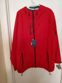 Cole Haan Grand OS Rain Jacket Mens Size XL Red Zip Up Coat