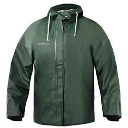 Green Grundens Brigg 44 Hooded Commercial Fishing Rain Jacke