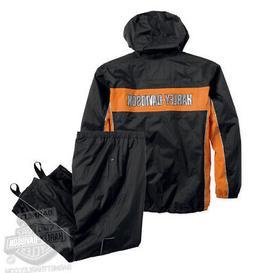 Harley-Davidson Mens Generations Reflective B&S Black Rain S