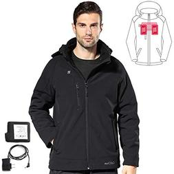 COLCHAM Heated Jackets for Men Waterproof Wind Breaker Slim