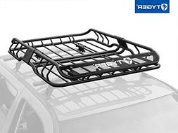 Tyger Heavy Duty Roof Mounted Cargo Basket Rack | L47 x W37