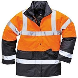 Portwest Hi Vis Contrast Traffic Jacket Visibility Work Rain