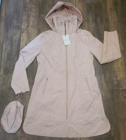 Cole Haan Hooded Packable Rain Coat Blush Pink NWT - MSRP $1