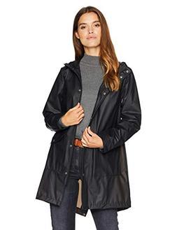 Levi's Women's Hooded Rubberized Faux Leather Anorak Jacket,