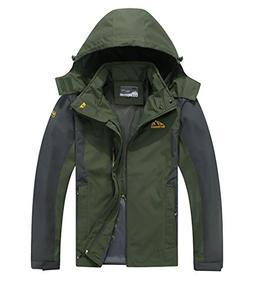 Cheerun Men's Outdoor Sports Hooded Windproof Jacket Waterpr
