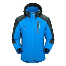 BIYLACLESEN Men's Outdoor Sports Hooded Windproof Softshell