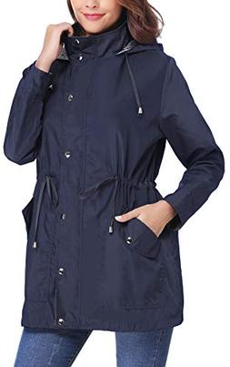 iClosam Women Raincoats Waterproof Lightweight Rain Jacket A