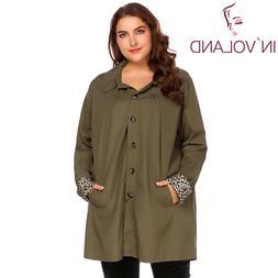 IN'VOLAND Large Size XL-5XL Women Rain Coat Jacket Spring Au