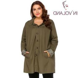 IN'VOLAND Large Size XL-5XL Women Rain Coat Jacket Spring Au