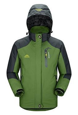 Rdruko Men's Jacket Hood Waterproof Windproof Casual Outdoor