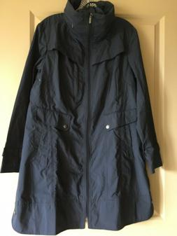 COLE HAAN Jacket Trench Rain Coat Packable Travel Bag Pouch