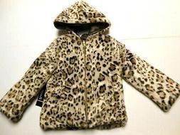 Jackets Girls Faux Fur Jackets Leopard print Tan Coats Soft