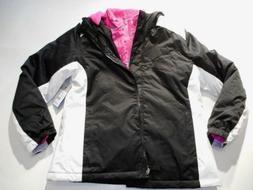 Jackets Girls outerwear Coats SwissTech Black White Heavy Ja