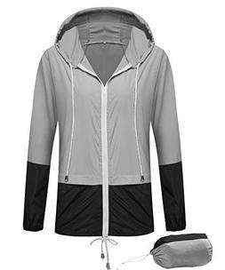 SunBoss Women Rain Jackets Waterproof with Hood Lightweight