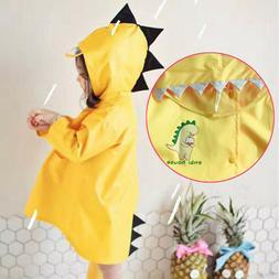 Kid Baby Boy Girl Raincoat Rain Jacket Cartoon Lightweight R