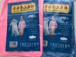 Kid Children Excursion Disposable Hoodie Poncho Raincoat Rai