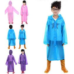 Kids Boy Girl Hooded Jacket Rainsuit Rain Poncho Raincoat Co