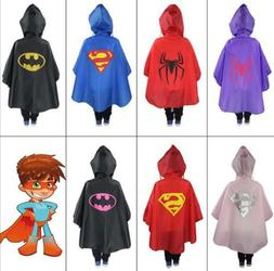 Kids Rain Coat Halloween Costume Cloak Poncho Baby Rainsuit
