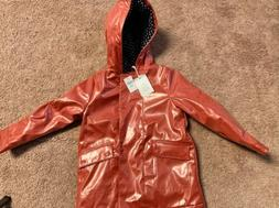 Gap Kids Rain Coat Jacket Size 5 Pink Lined Button Up