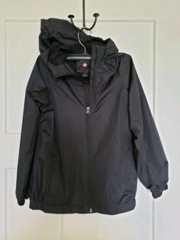 Swiss Alps Kids Rain Coat SZ Kids Large 7/8 - Black NWOT