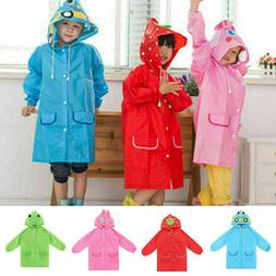 Kids Rain coat Waterproof Hooded Poncho Jacket Raincoat Duck