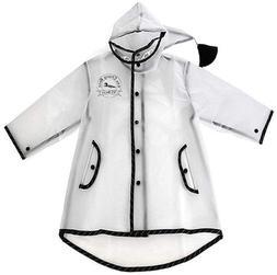 Kids Raincoat Clear Rain Poncho Jacket Rain Coat Rain Wear f
