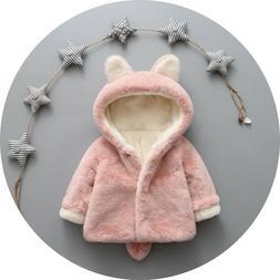Kids Winter Clothing Baby Girls Warm Hooded Jackets & Coats