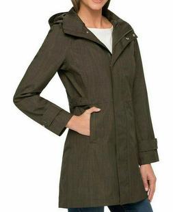 Kirkland Womens Lightweight WaterProof Rain Coat Jacket w/ H