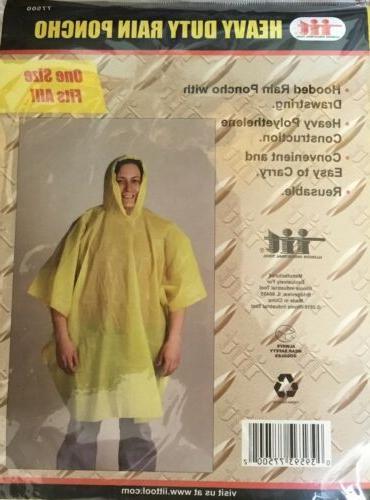 1 Illinois Industrial Heavy Duty PVC Rain Poncho Rain Coat O