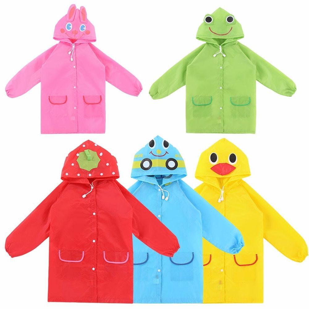 1pcs Waterproof Raincoat children <font><b>Rain</b></font> <font><b>Coat</b></font> Rainwear Rainsuit Student Raincoat