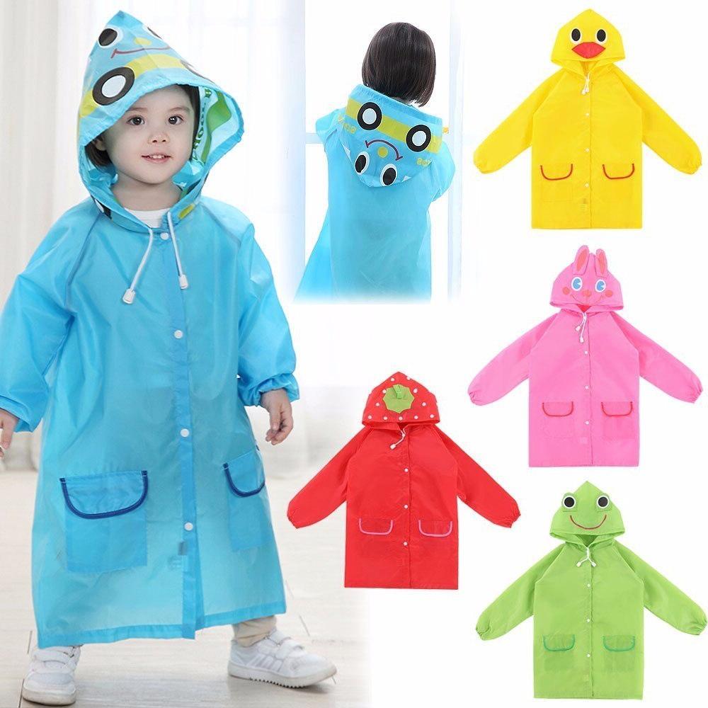1pcs cartoon animal style waterproof kids raincoat