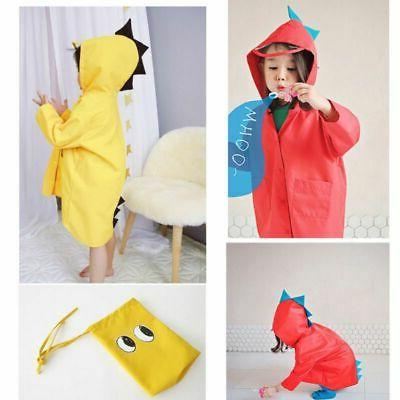 children cartoon dinosaur rain coat kids waterproof