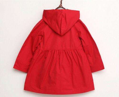 2-7 Year Hooded Trench Coat Clothing