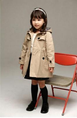 2-7 Hooded Coat Clothing