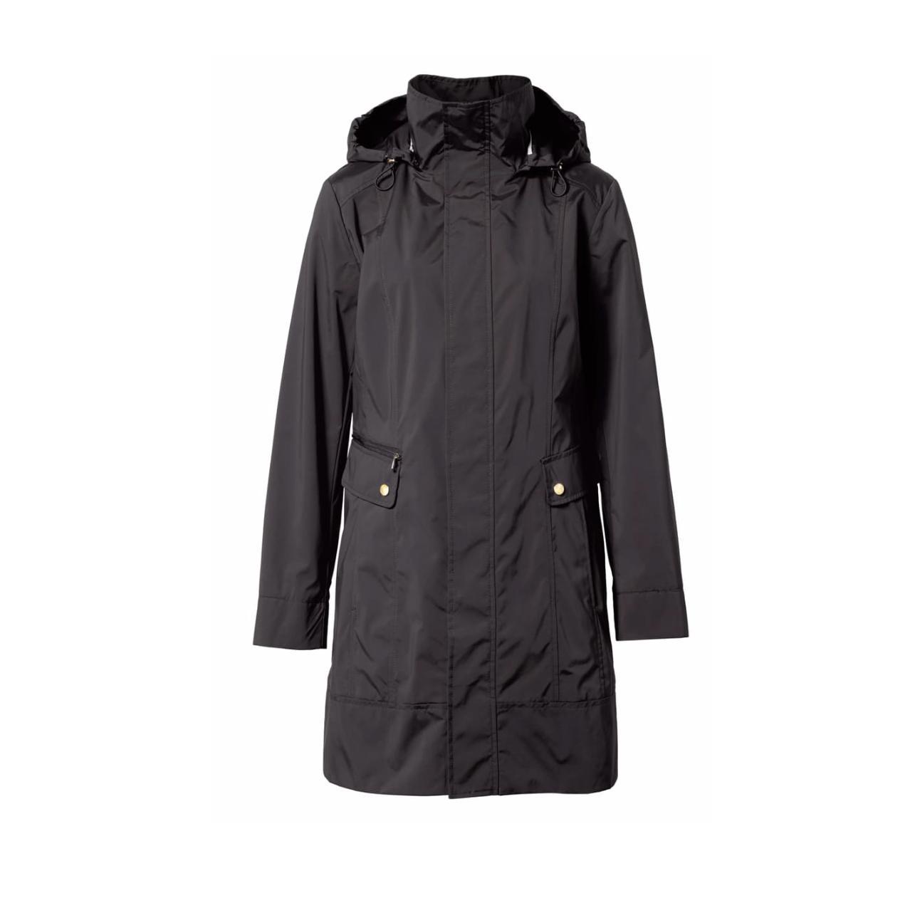 $200 Cole Haan Women's Packable Hooded Raincoat