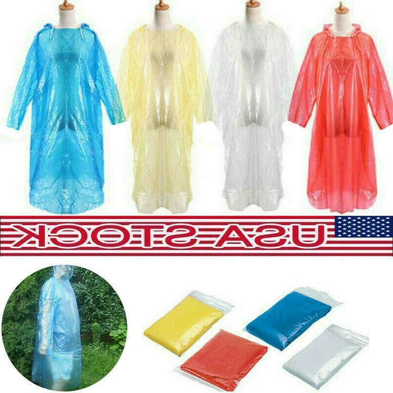 10PCS Disposable Adult Emergency Waterproof Rain Coat Poncho