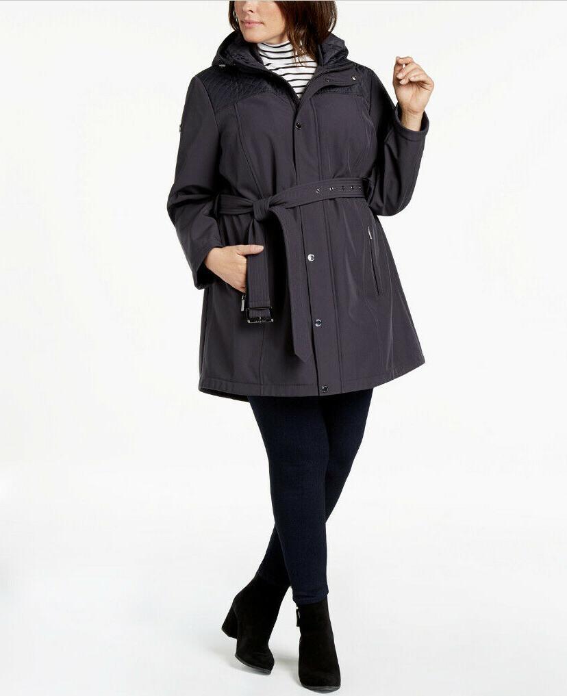 260 gray sofshell rain coat plus size