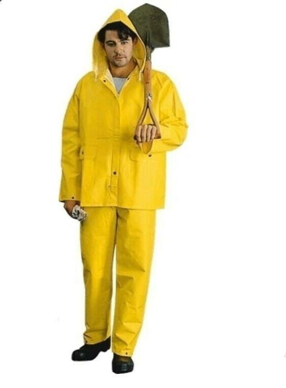 2W International 7040-JA Yellow Rain Coat PVC Heavy Wt Prote