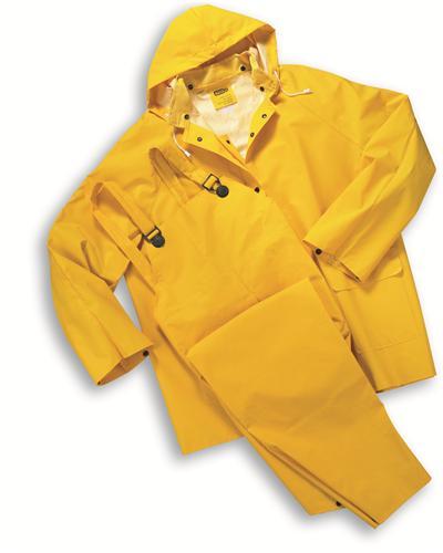 3 piece heavy duty yellow rainsuit rain