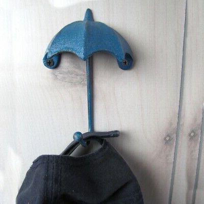 3D Umbrella Swivel Wall Hat Rain Coat Key Chain Holder
