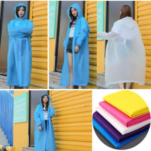 3PCS Men Rain Hooded Waterproof Jacket Rainwear
