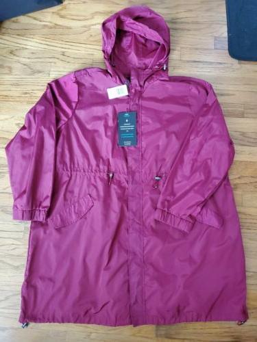 Torrid Nwt Red Rain Jacket Long Line