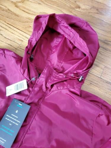 Torrid 3x 24 Nwt Red Maroon Rain Jacket Line Zipper