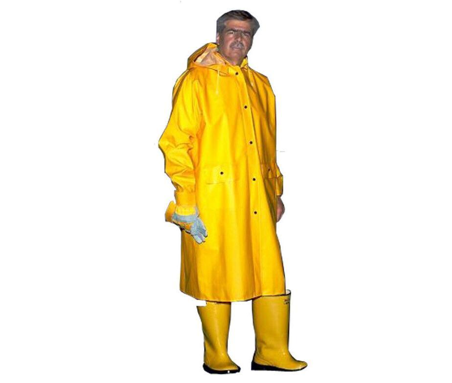 48 yellow rain coat with detachable hood