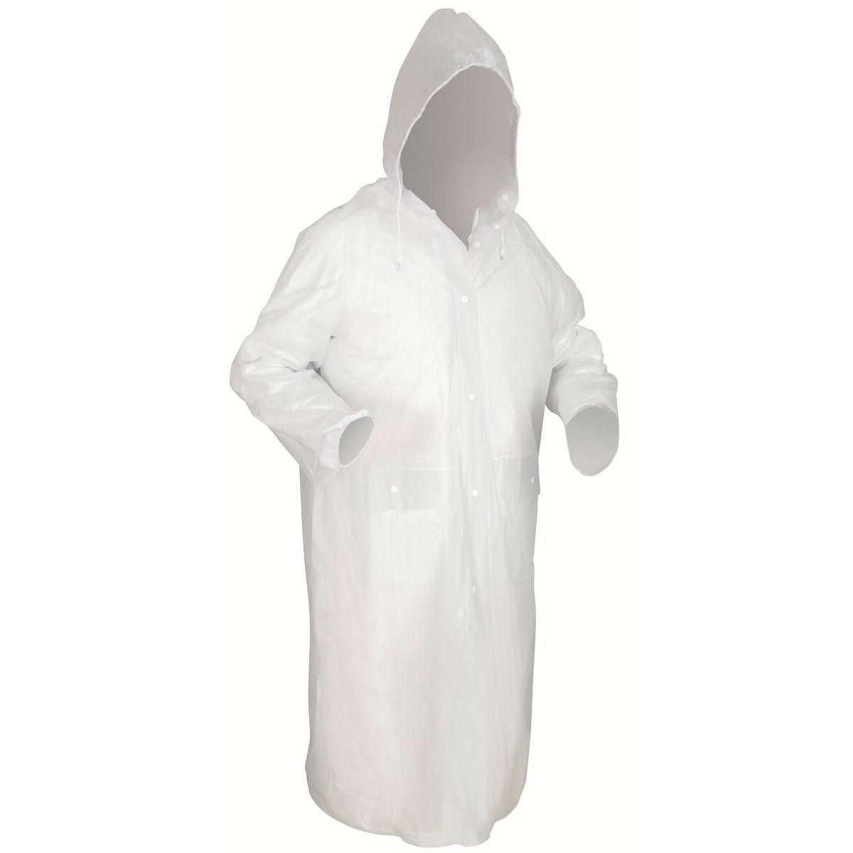 49 inch clear rain coat with detachable