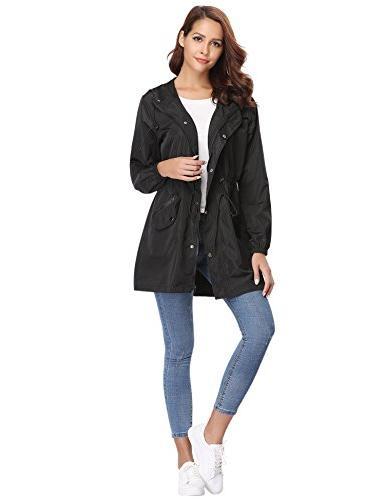 Abollria Womens Outdoor Lightweight Rain Jacket